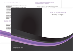 realiser depliant 2 volets  4 pages  standard texture abstrait MLIG46008