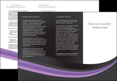 realiser depliant 3 volets  6 pages  standard texture abstrait MLIG46038