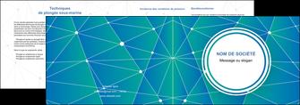 imprimer depliant 2 volets  4 pages  texture contexture structure MLIG46354