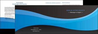 imprimer depliant 2 volets  4 pages  texture contexture structure MLIG46400