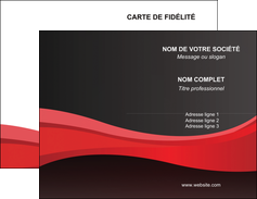 Impression Cartes de visite  Carte commerciale de fidélité devis d'imprimeur publicitaire professionnel Carte de visite Double - Portrait