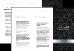 personnaliser modele de depliant 3 volets  6 pages  standard texture abstrait MIF46696