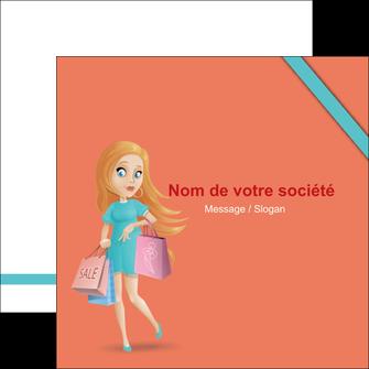 faire modele a imprimer flyers vetements et accessoires shopping magasin fille MLIG46706