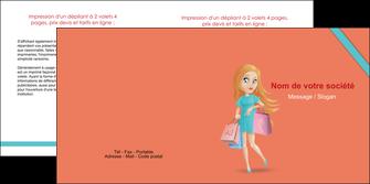 modele en ligne depliant 2 volets  4 pages  vetements et accessoires shopping magasin fille MLIG46710