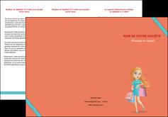 imprimerie depliant 3 volets  6 pages  vetements et accessoires shopping magasin fille MLIG46714