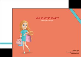 realiser affiche vetements et accessoires shopping magasin fille MLIG46722