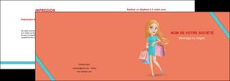 impression depliant 2 volets  4 pages  vetements et accessoires shopping magasin fille MLIG46724