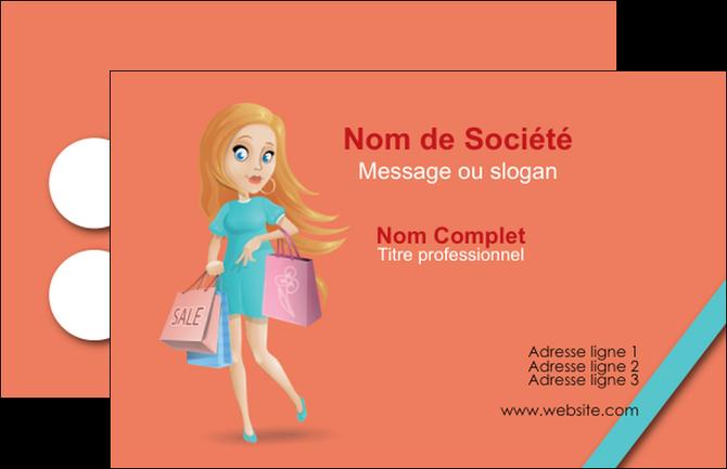 Modele En Ligne Carte De Visite Vetements Et Accessoires Shopping Magasin Fille MLGI46730