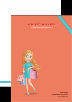 personnaliser modele de flyers vetements et accessoires shopping magasin fille MLIG46740