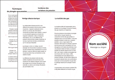 Commander Plaquette de présentation  modèle graphique pour devis d'imprimeur Dépliant 6 pages pli accordéon DL - Portrait (10x21cm lorsque fermé)