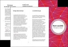 modele en ligne depliant 3 volets  6 pages  standard abstrait fond MIF46792