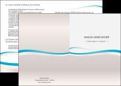 exemple depliant 2 volets  4 pages  standard texture contexture MLIG46808