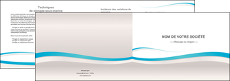faire modele a imprimer depliant 2 volets  4 pages  standard texture contexture MLIG46822