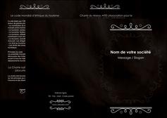 creer modele en ligne depliant 2 volets  4 pages  texture contexture structure MLGI47070
