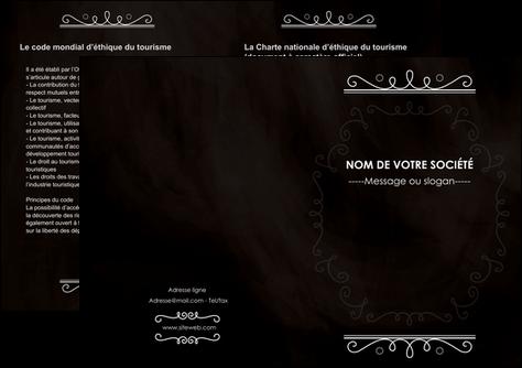 modele depliant 2 volets  4 pages  texture contexture structure MLGI47072