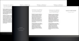 impression depliant 4 volets  8 pages  standard texture contexture MLGI47362