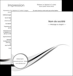modele depliant 2 volets  4 pages  texture contexture structure MIF47558