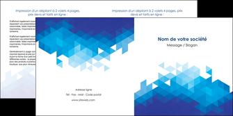 faire modele a imprimer depliant 2 volets  4 pages  texture contexture structure MIF48202