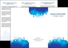 personnaliser maquette depliant 3 volets  6 pages  texture contexture structure MIF48206