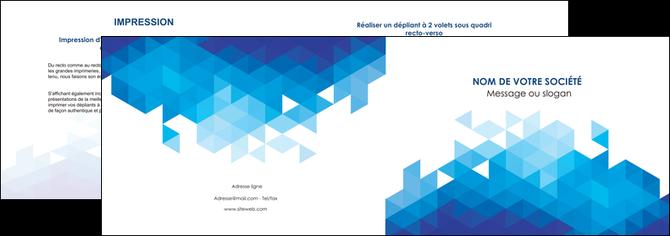 personnaliser modele de depliant 2 volets  4 pages  texture contexture structure MLGI48214