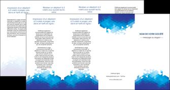 realiser depliant 4 volets  8 pages  texture contexture structure MIF48234