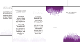 imprimer depliant 4 volets  8 pages  texture contexture structure MIF48416
