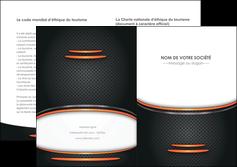 maquette en ligne a personnaliser depliant 2 volets  4 pages  texture contexture structure MLIG49038