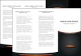 imprimer depliant 3 volets  6 pages  texture contexture structure MLGI49051