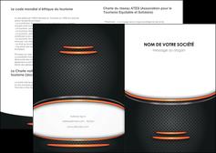 creation graphique en ligne depliant 2 volets  4 pages  texture contexture structure MLIG49072
