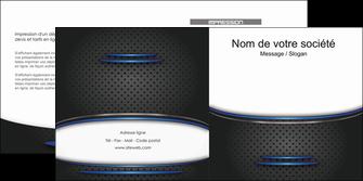 modele en ligne depliant 2 volets  4 pages  texture contexture structure MIF49090