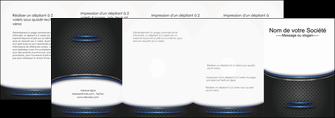 impression depliant 4 volets  8 pages  texture contexture structure MLGI49120