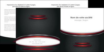 maquette en ligne a personnaliser depliant 2 volets  4 pages  texture contexture structure MIDCH49408