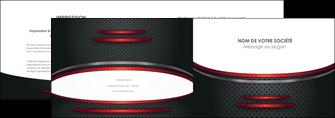 cree depliant 2 volets  4 pages  texture contexture structure MIDCH49420