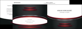 modele depliant 2 volets  4 pages  texture contexture structure MIDCH49422
