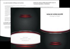faire depliant 2 volets  4 pages  texture contexture structure MIDCH49432