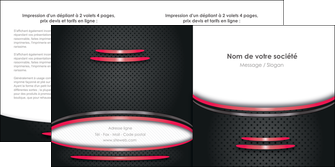 modele depliant 2 volets  4 pages  texture contexture structure MIF49512