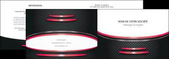 modele depliant 2 volets  4 pages  texture contexture structure MIF49526