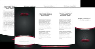 imprimerie depliant 4 volets  8 pages  texture contexture structure MIF49544
