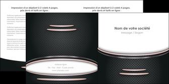 faire depliant 2 volets  4 pages  texture contexture structure MIF49890