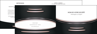 cree depliant 2 volets  4 pages  texture contexture structure MLGI49904