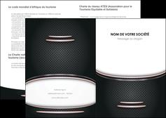 modele depliant 2 volets  4 pages  texture contexture structure MLGI49914