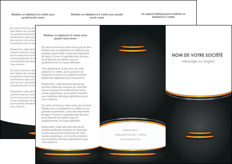 realiser depliant 3 volets  6 pages  texture contexture structure MLGI49946