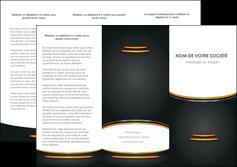 Commander Plaquette entreprise  papier publicitaire et imprimerie Dépliant 6 pages Pli roulé DL - Portrait (10x21cm lorsque fermé)
