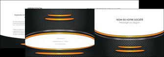 faire modele a imprimer depliant 2 volets  4 pages  texture contexture structure MIF49954
