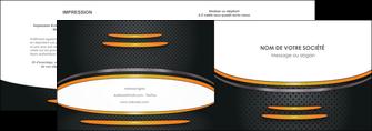 impression depliant 2 volets  4 pages  texture contexture structure MLIG49956