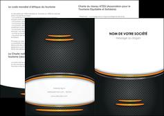 faire modele a imprimer depliant 2 volets  4 pages  texture contexture structure MIF49966