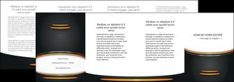 personnaliser modele de depliant 4 volets  8 pages  texture contexture structure MIF49976