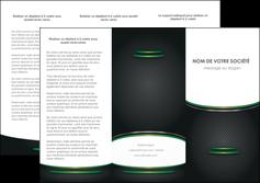 realiser depliant 3 volets  6 pages  texture contexture structure MLIG49998