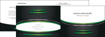 modele depliant 2 volets  4 pages  texture contexture structure MLIG50008