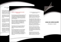creer modele en ligne depliant 3 volets  6 pages  texture contexture structure MLIG50112